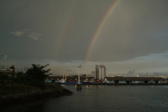 Rainbow at Jurong Port
