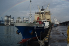Rainbow over our vessel